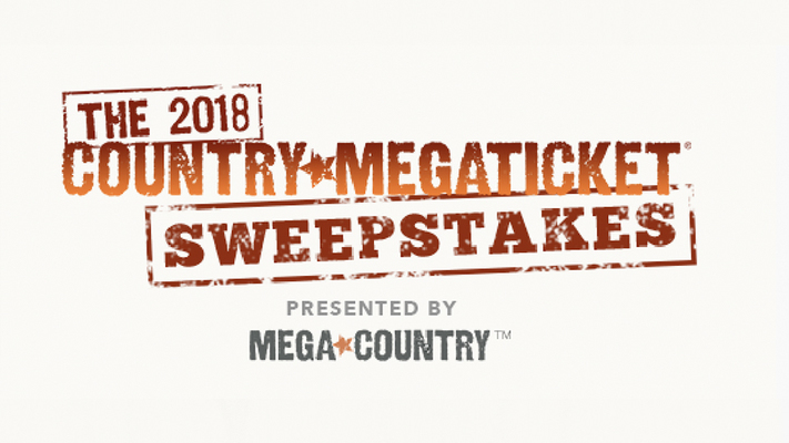 The 2018 Country Megaticket ® Sweepstakes
