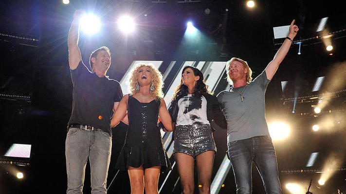 Little Big Town Performs at Food Bank for NYC Event