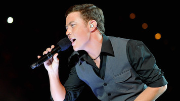 Scotty McCreery & Hunter Hayes at ACM Lifting Lives Music Camp