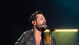 Old Dominion performs on the Nissan Stadium stage during day 3 of the 2017 CMA Music Festival on June 10, 2017 in Nashville, Tennessee.