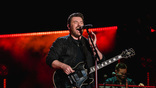 Chris Young performs on the Nissan Stadium stage during day 3 of the 2017 CMA Music Festival on June 10, 2017 in Nashville, Tennessee. <br>