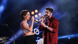 Thomas Rhett and Maren Morris perform on the Nissan Stadium stage during day 3 of the 2017 CMA Music Festival on June 10, 2017 in Nashville, Tennessee. <br>