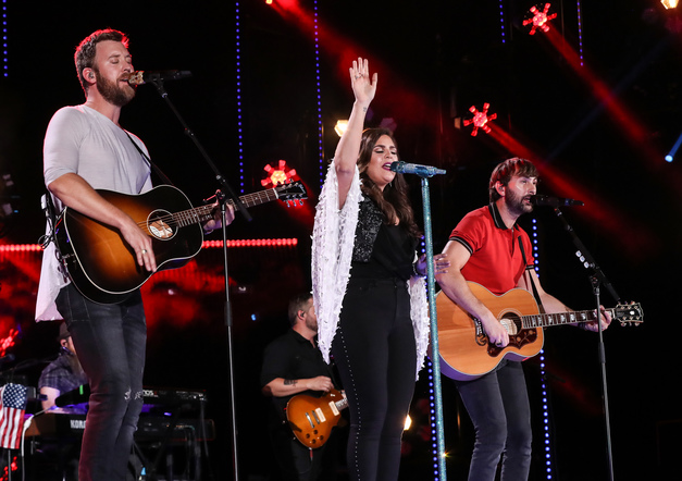 Lady Antebellum performs on the Nissan Stadium stage during day 3 of the 2017 CMA Music Festival on June 10, 2017 in Nashville, Tennessee.