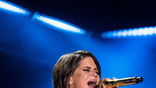 Maren Morris performs on the Nissan Stadium stage during day 3 of the 2017 CMA Music Festival on June 10, 2017 in Nashville, Tennessee. <br>