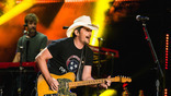Brad Paisley performs on the Nissan Stadium stage during day 4 of the 2017 CMA Music Festival on June 11, 2017 in Nashville, Tennessee.