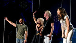 Little Big Town performs on the Nissan Stadium stage during day 4 of the 2017 CMA Music Festival on June 11, 2017 in Nashville, Tennessee.