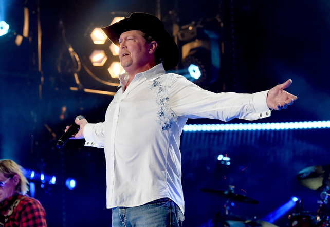 Tracy Lawrence performs on the Nissan Stadium stage during day 4 of the 2017 CMA Music Festival on June 11, 2017 in Nashville, Tennessee.