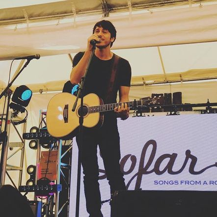 Morgan Evans LOVED getting to play and tell stories to CMA Fest Fans.