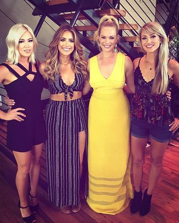 Post Monroe is still sharing photos from their weekend. Here they are photographed with Cassie Kelley, a Nashville blogger and wife of Lady A's Charles Kelley at a Bumble event that happened during CMAFest.