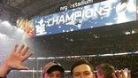 Scotty McCreery celebrated with a picture of him and his pops at a Falcon's game! <br>