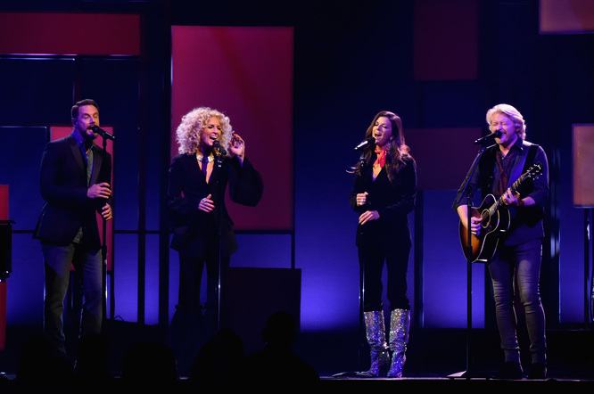 Little Big Town performs onstage at the 51st annual CMA Awards at the Bridgestone Arena on November 8, 2017 in Nashville, Tennessee.