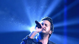Luke Bryan performs onstage at the 51st annual CMA Awards at the Bridgestone Arena on November 8, 2017 in Nashville, Tennessee.