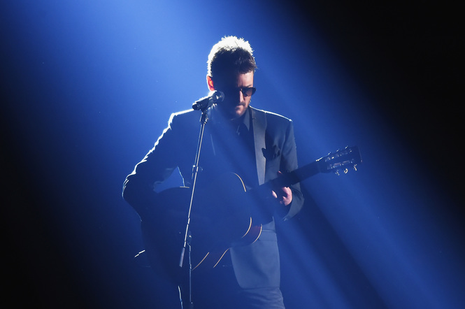 Eric Church performs onstage at the 51st annual CMA Awards at the Bridgestone Arena on November 8, 2017 in Nashville, Tennessee.