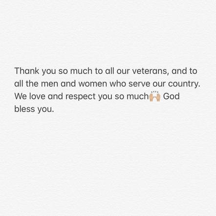 Thomas Rhett shared a message of respect for veterans and active service men & women alike.