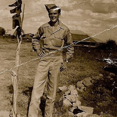 Craig Wayne Boyd shared an old photo of his grandfather during World War II to thank the troops.