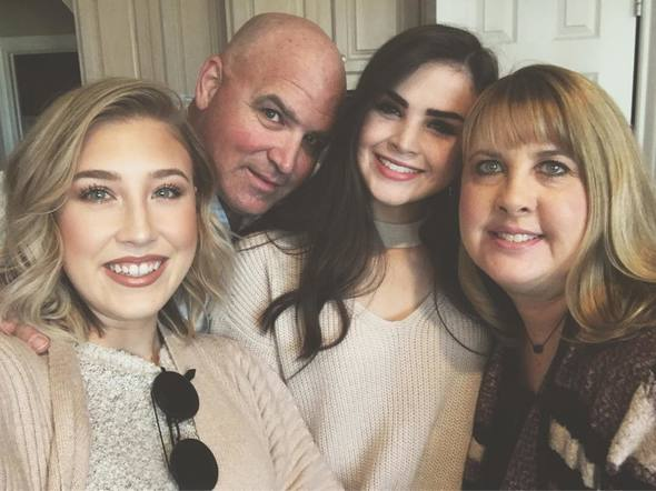 Maddie of Maddie and Tae spent the holiday with her family.