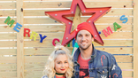 <p>RaeLynn had a very colorful Christmas with her husband and fur babies.</p>