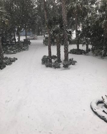 The snow followed Darius Rucker home to Charleston, South Carolina.