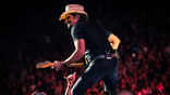 Brad Paisley performs on his Weekend Warrior World Tour at the Staple Center in Los Angles, California on Thursday, January 25, 2018.