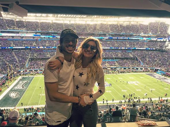 Kelsea Ballerini & Morgan Evans couldn't believe that they got to go to the game!