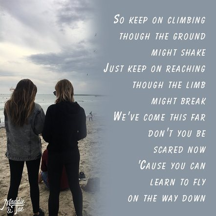"""Maddie and Tae shared their """"Fly"""" lyrics to support women today."""