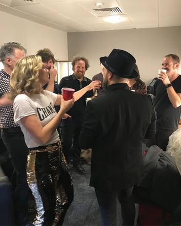 Sugarland had to have a full-band toast after performing their first show together in six years!
