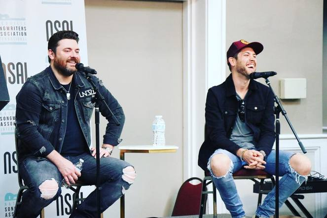 Chris Young joined fellow songwriters for the Tin Pan South Seminar.
