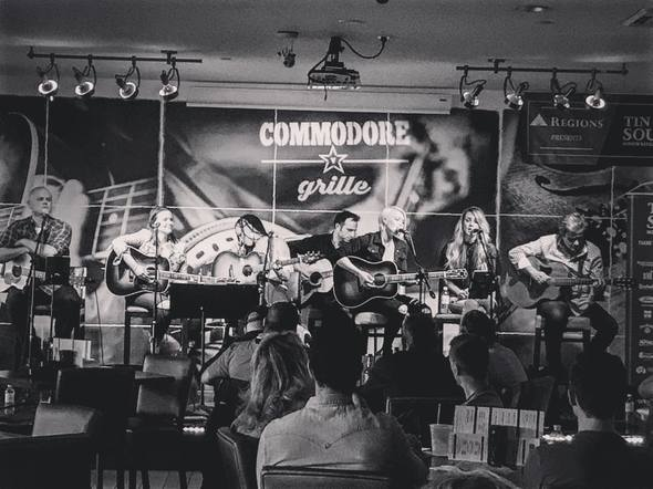 Post Monroe took the Tin Pan South stage at the Commodore Grille with their publishing family.