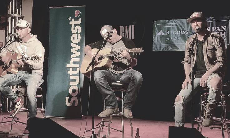 Locash also joined Rhett Akins on stage to surprise the fans at Tin Pan South!