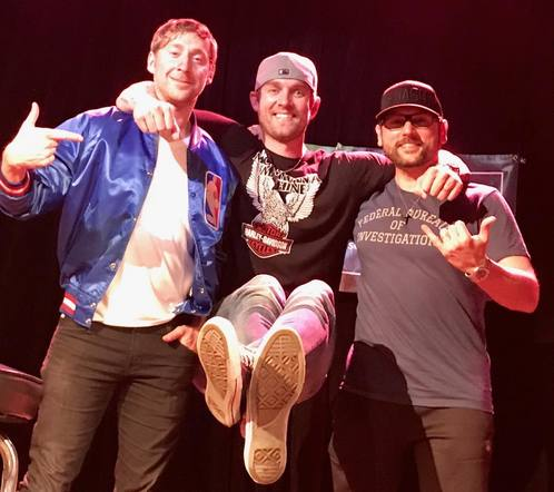 Brett Young surprised the crowd at 3rd and Lindsley at Ashley Gorley's round, posing for an adorable photo.